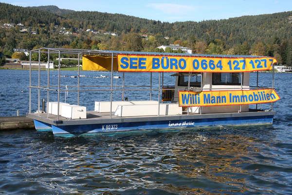 Werbe- und Büroboot am Wörthersee