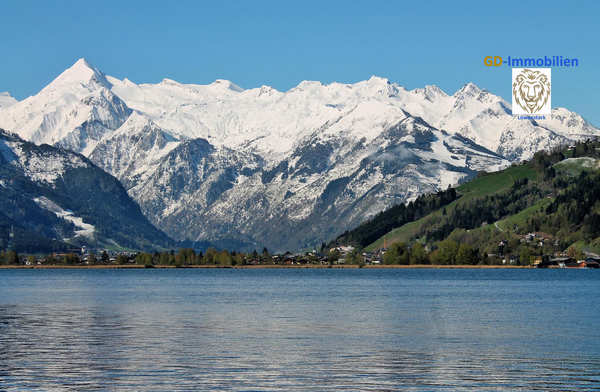 Blick über den Zeller See zum Kitzsteinhorn